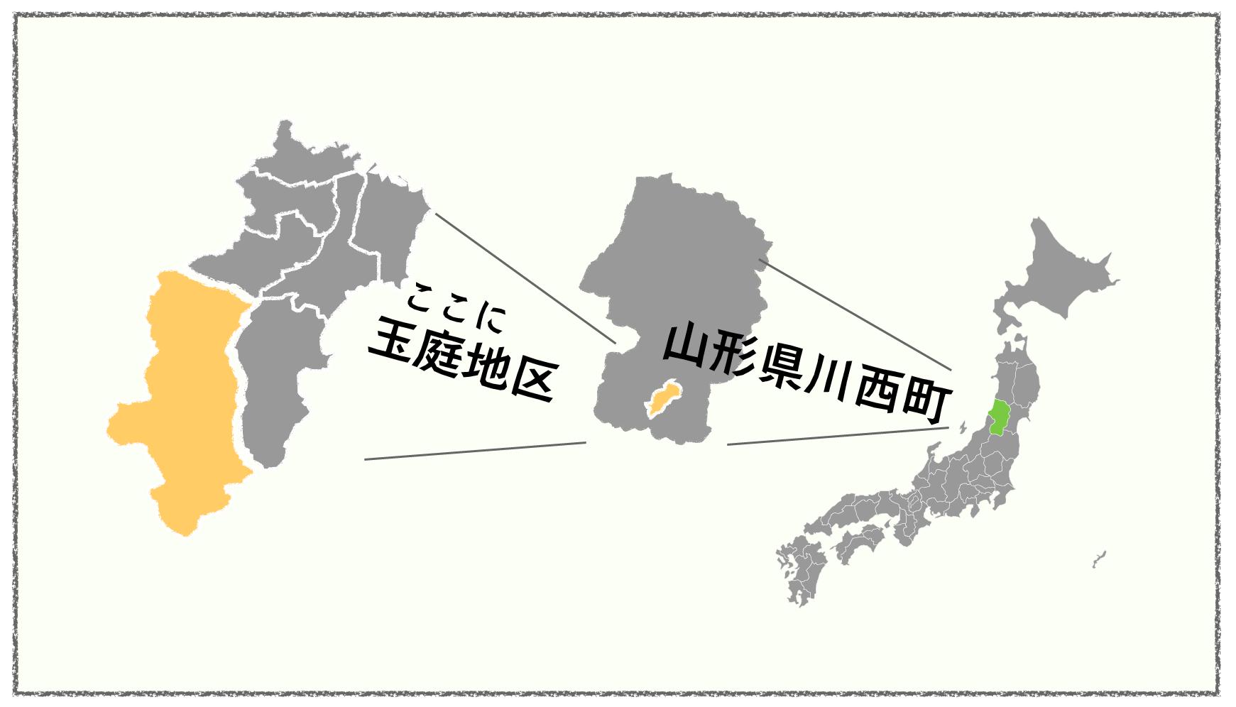 玉庭地区の地図